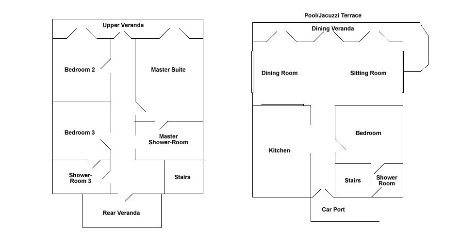 floor plan villa tobago