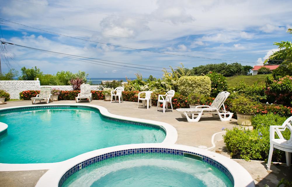 pool garden tobago villa